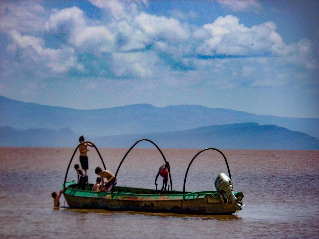 Boat on Lake Langano, Ethiopia