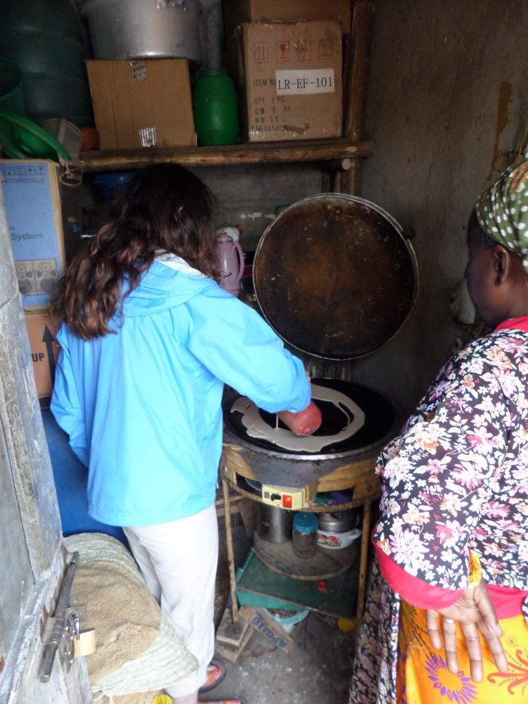 Making Injera in Ethiopia