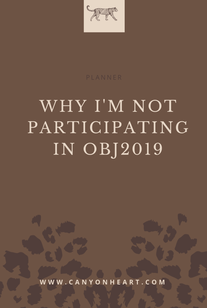 graphic for Why I'm Not Participating in OBJ2019
