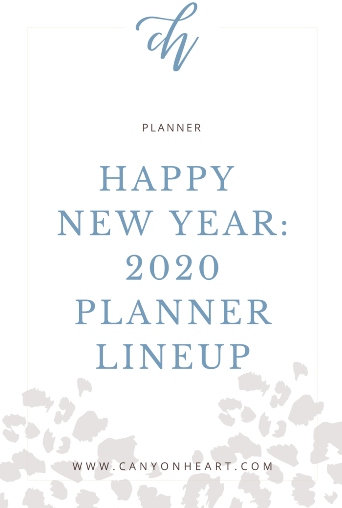 Happy New Year: 2020 Planner Lineup pinterest