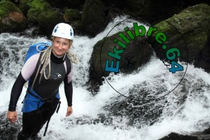 Photo sud-ouest Virginie Faure canyoning Votre guide !