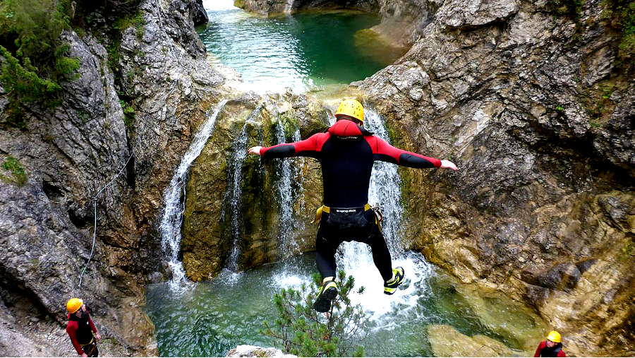Canyoning Lechtal Reutte – Stuibenfälle