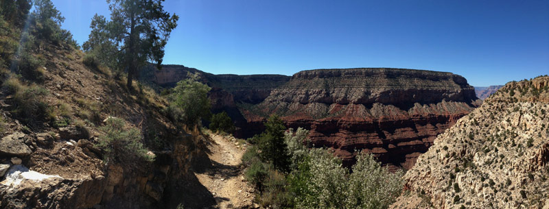 Panoramic view of the Hermit Trail