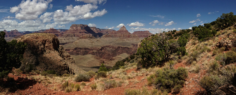 Panorama photo from Horseshoe Mesa in Grand Canyon