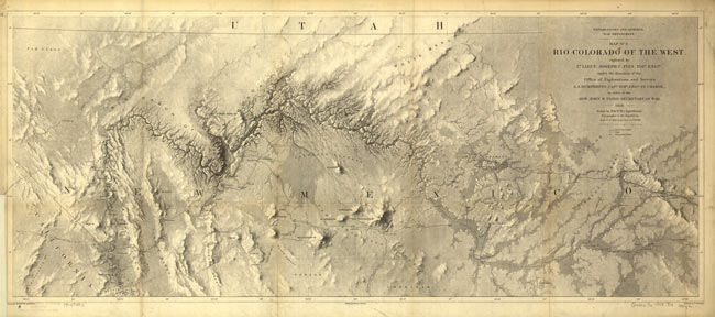 1858 map of Grand Canyon area drawn by Egloffstein