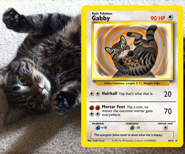 Turn Your Favorite Pet Into Custom Pokemon Cards
