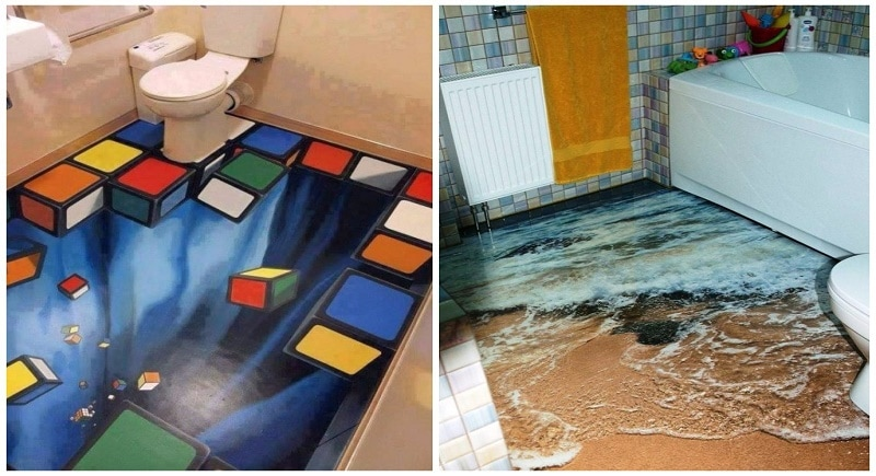 These 3D Bathroom Floor Designs Are So Insanely Awesome