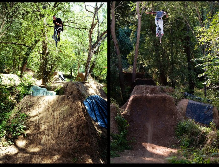 dirt jumping flips bmx trails