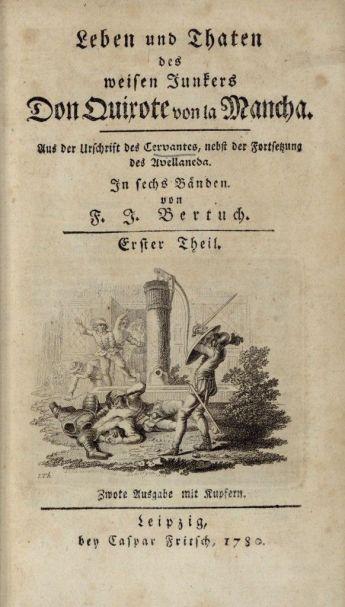Una versión alemana del 'Quijote' de 1780.
