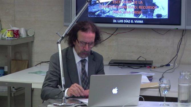 Díaz Viana durante una conferencia.