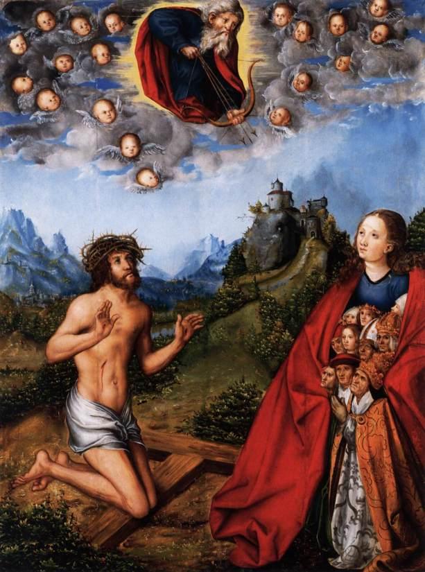 'La epidemia'. Lucas Cranach el Viejo.