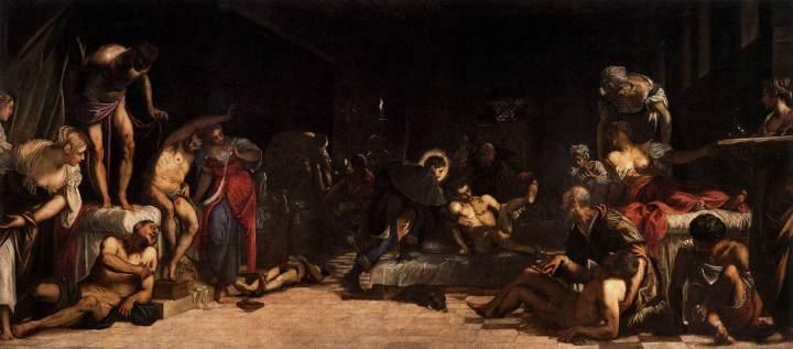 'San Roque y los apestados' de Tintoretto.