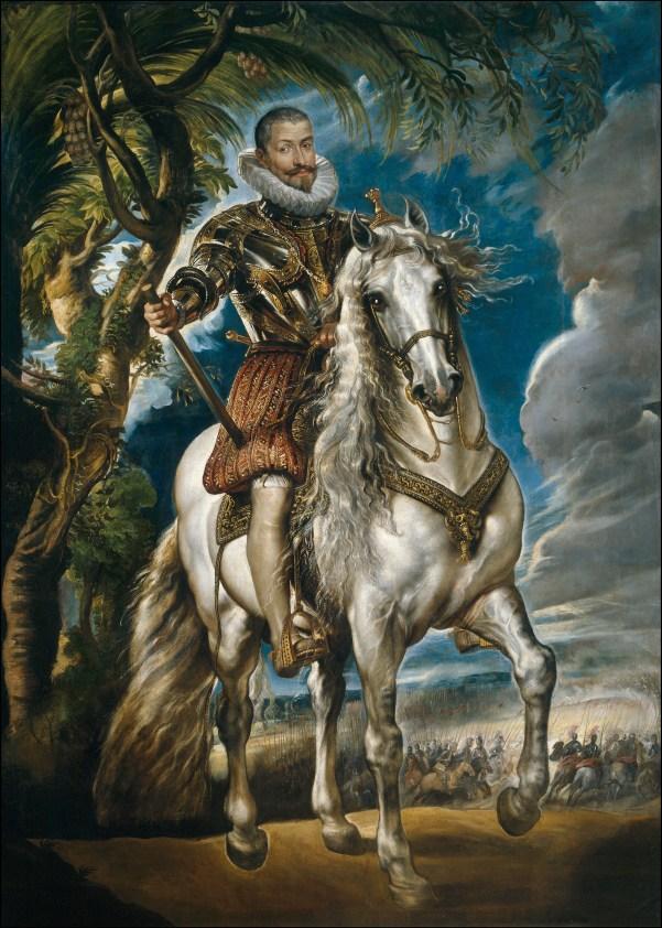 Retrato ecuestre del Duque de Lerma realizado por Rubens.