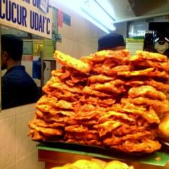 Tortillitas de camarones en Extremo Oriente