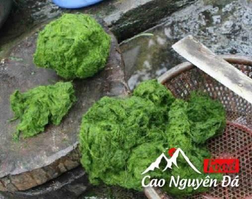 Cách làm Rêu Đá bọc lá chuối