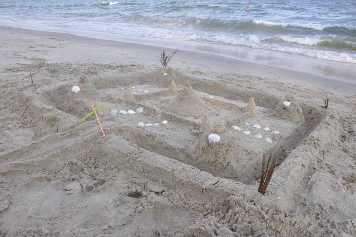 J+242 Faire un château de sable !