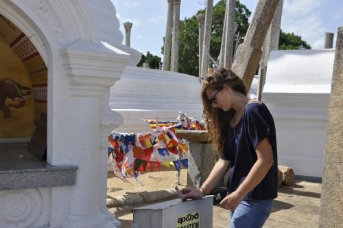 J+324 Faire une donation dans un temple bouddhiste!