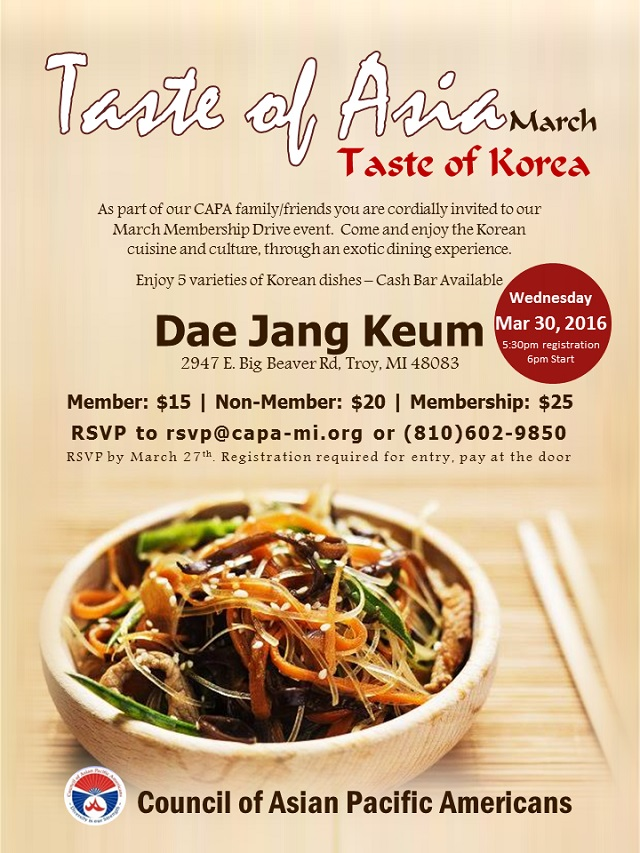 Taste of Korea  CAPA