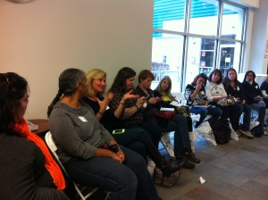 Asking Peter Hotten a question at Harvey Building Products Boston Parent Blogger Network event