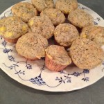 the smitten kitchen recipe for plum poppy seed muffins but I substituted peaches  capabilitymom.com