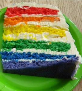capability mom's rainbow cake - recipe from the whisk kid