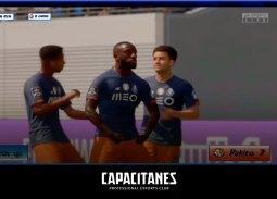 Celebración de uno de los goles de la SDL - Capacitanes con el Oporto en la copa LVF