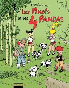 Les PIxels et les quatre pandas