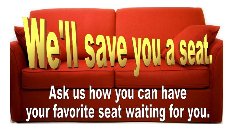 Click the couch to find out how you can help the Cinema and have a seat waiting for you!