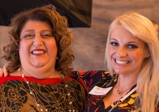 Mayor Sefatia Romeo Theken and luncheon committee member Kasie Van Faasen