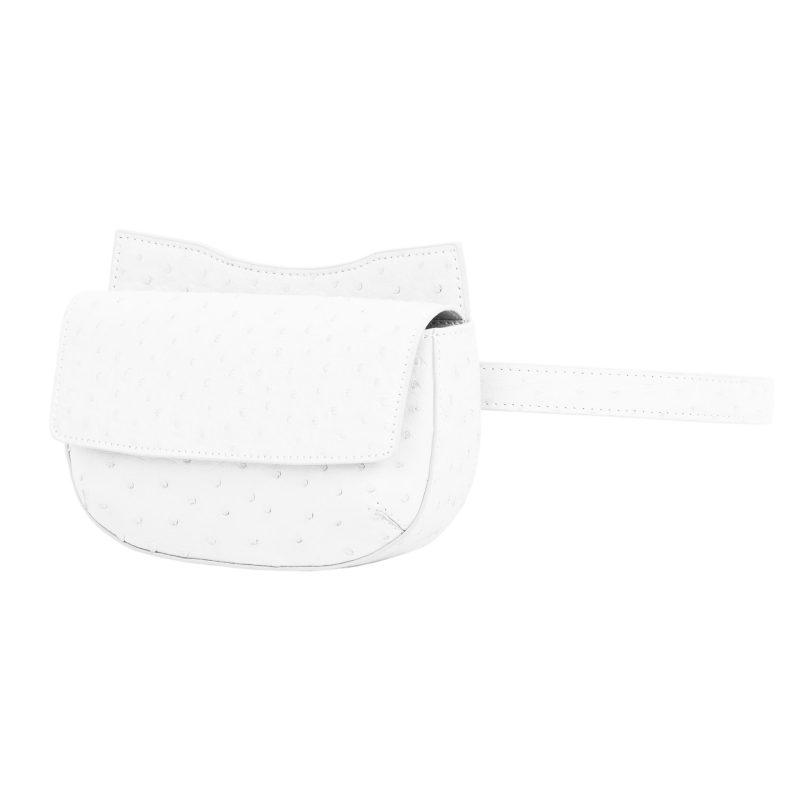 Fallow Beltbag in White Ostrich 2