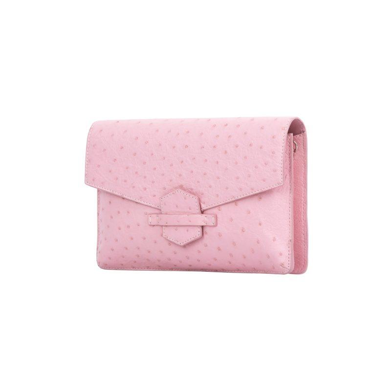 Ivy in Powder Pink Ostrich 2