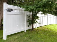 Tongue & Groove With Baluster Topper - Cape Cod Fence Company