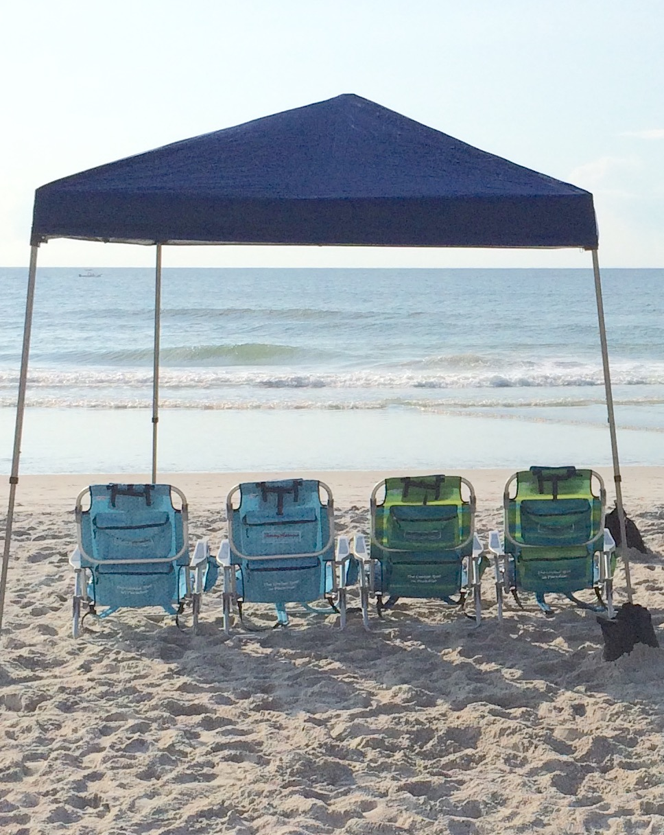 Beach Chairs With Umbrella Beach Family 4 Pack