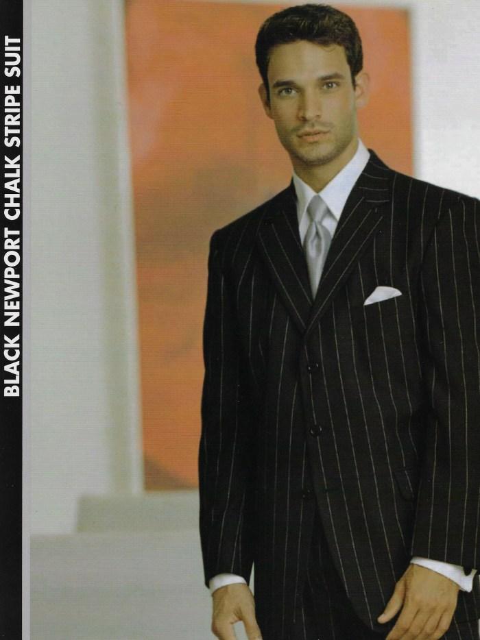 Blk Newport Chalk Stripe Suit