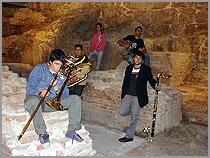Grupo de Elmano Pereira na apresentação dofestival