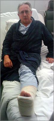 Ramiro Matos no Hospital da Força Aérea