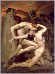 Dante e Virgil no Inferno