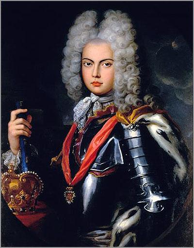 D. João V, rei de Portugal (1706-1750). Foram bem conhecidos dos seus contemporâneos os amores do Rei Magnânimo por uma freira de Odivelas, a Madre Paula, a quem instalou, com os três filhos bastardos que dela teve, no Palácio de Palhavã