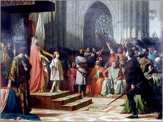 Maria de Molina (Rainha de Castela) apresenta o filho D. Fernando IV - Capeia Arraiana