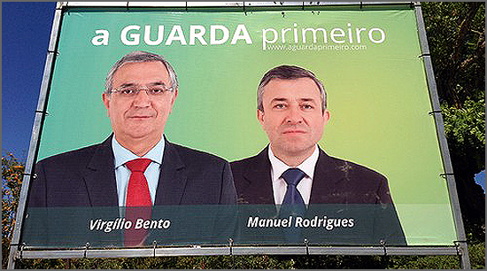 Cartaz da candidatura independente A Guarda Primeiro