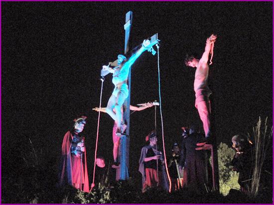 Recriação da Paixão de Cristo - Calvário de Jesus Cristo - Capeia Arraiana