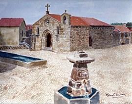EIgreja da Misericórdia de Alfaiates - Pintura de Maria C. Ventura - Capeia Arraiana