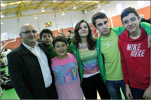 Os treinadores e os judocas em Alcains