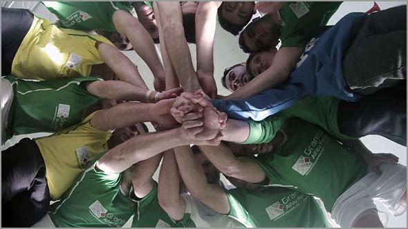 Grito da equipa de Futsal - Sporting Clube Sabugal - Capeia Arraiana