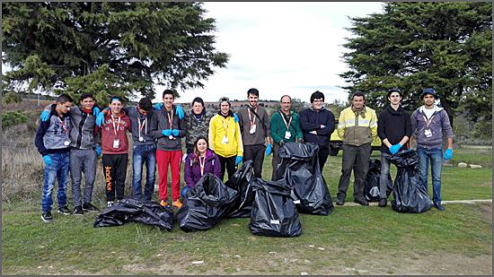 Os participantes da acção ambiental