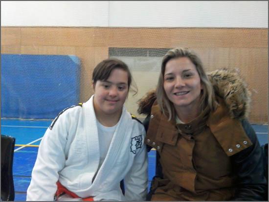 Maria Ribeiro com Telma Monteiro