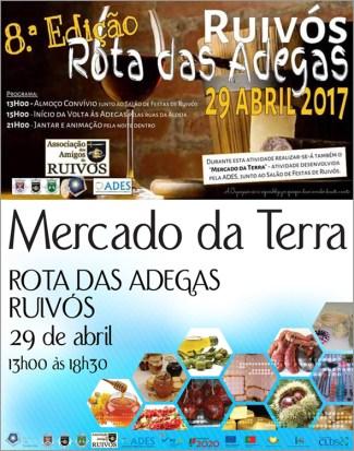Rota das Adegas Ruivós - 8 Edição - Mercado da Terra - Associação Amigos Ruivós - Capeia Arraiana