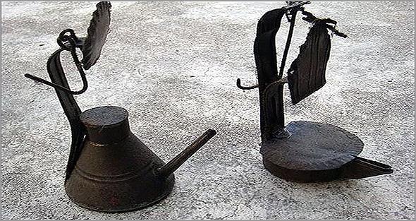 Lamparinas a petróleo das aldeias da Beira Alta - Franklim Costa Braga - Capeia Arraiana