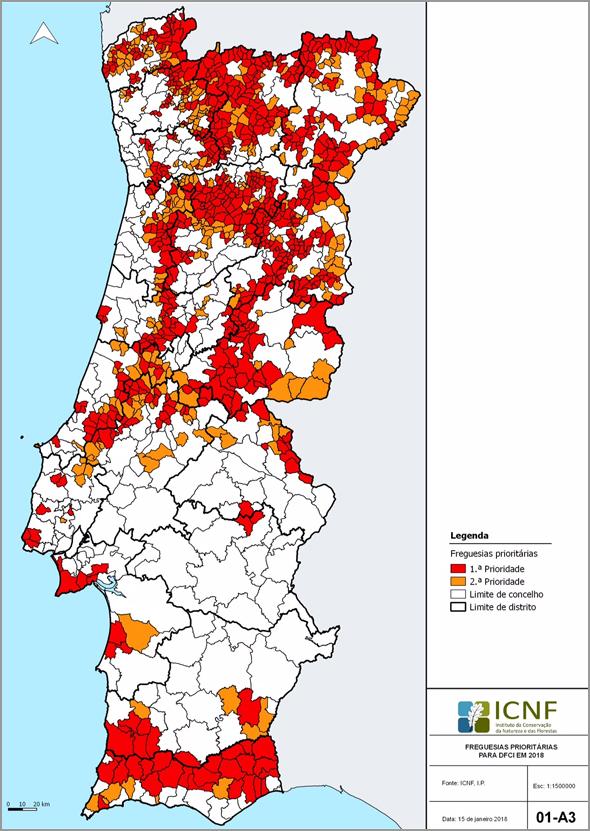Mapa florestal de Portugal - Capeia Arraiana