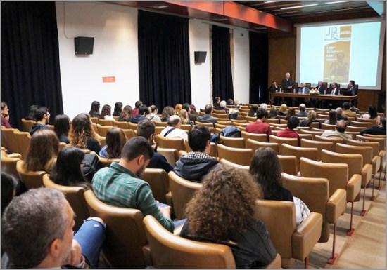 Uma das sessões, no dia 8, na Covilhã, num dos anfiteatros da Faculdade de Letras da UBI - Adérito Tavares - Capeia Arraiana